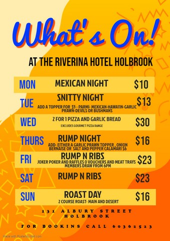 Riverina-Hotel-and-Free-Camp-Holbrook-Whats-On
