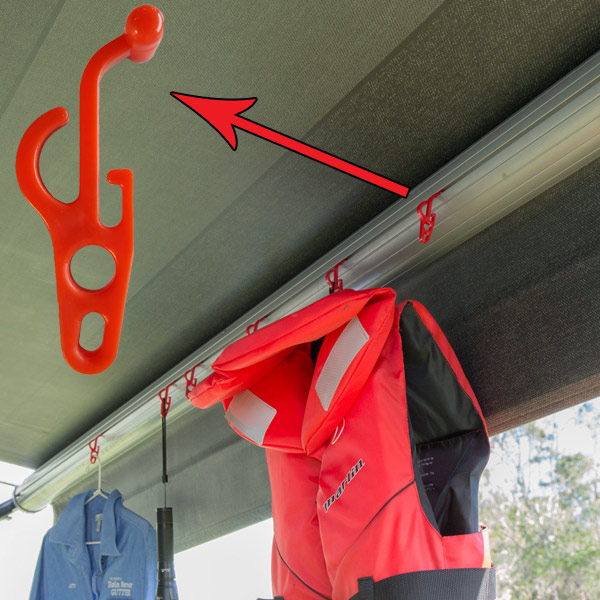 Flexible Nylon Hooks That Slide In The Tracks For Rv