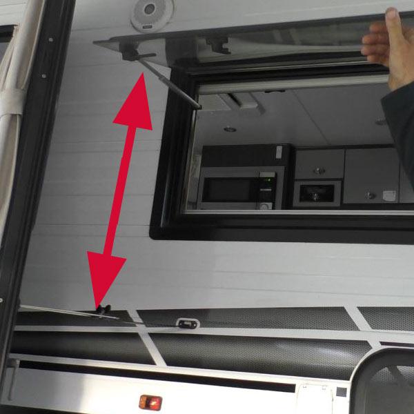Caravan & RV Door Latch Extension - Free Range Camping Shop