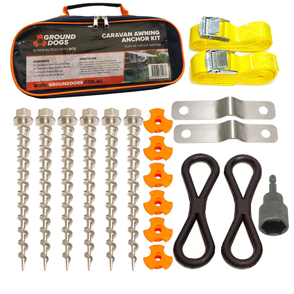 ground-dogs-tent-peg-awning-anchor-kit-pack-only-new-with-socket