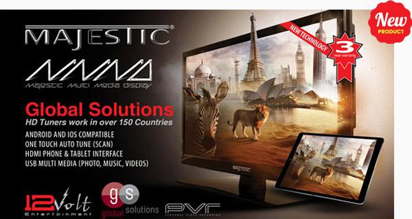 Majestic TV 12 Volt for Caravans, Motorhhomes, Rvs & Boats