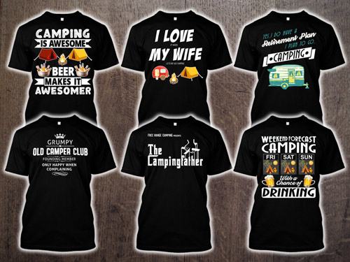 9101a9d5 Free Range Camping Designed, Camping, Caravan, Motorhoming & Outdoor Themed  T-Shirts