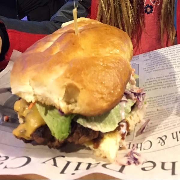 The Mouthwatering Deepwater Inn Burger