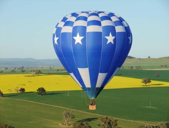 Canowindra Aussie Balloontrek Over Fields