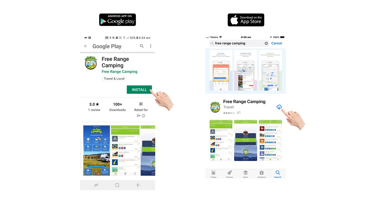 Slide 15a Download App - Free Range Camping