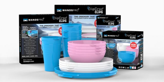 ClipCroc® – Stackable Clip together Crockery for Caravans & Campers