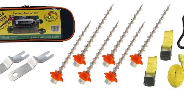 Ground Dogs – Screw In Tent Pegs & Awning Anchor Kits