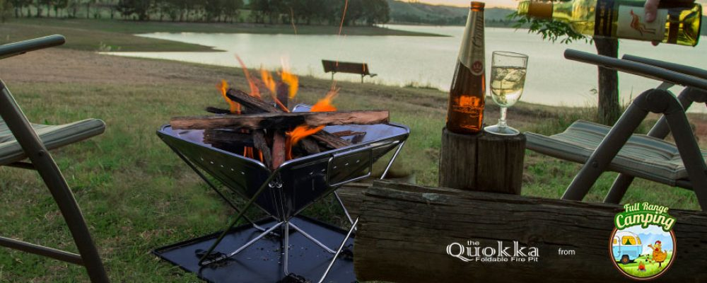 The Quokka II – New & Improved Folding Fire Pit & BBQ