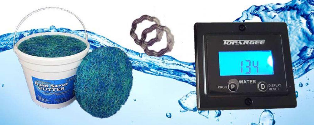 Water Saving Kit – Rain Saver Gutter & Topargee Water Tank Gauge