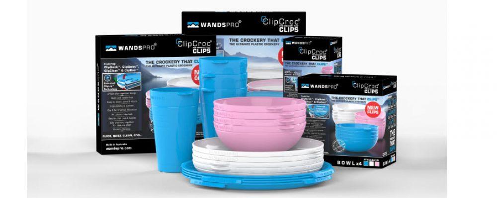 ClipCroc® – Stackable Clip together Crockery for Caravans & Campers