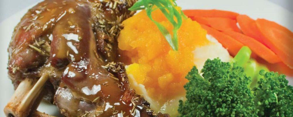 Camp Oven – Honey Roasted Lamb Shanks