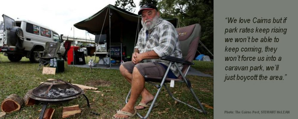 Are high cost Caravan Parks leading Campers to Boycott Cairns