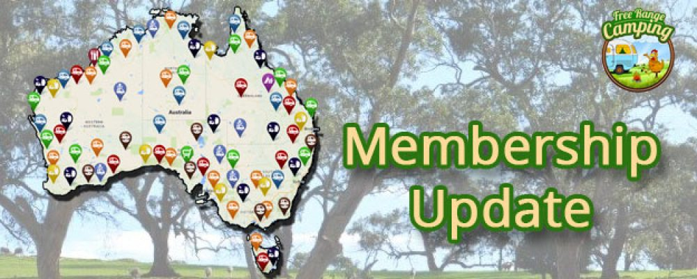 Free Range Camping Membership Update